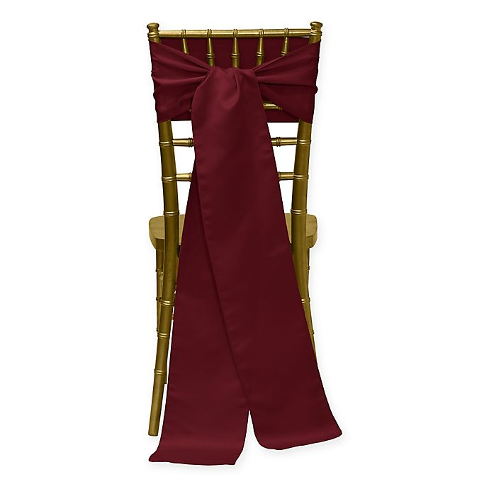Alternate image 1 for Duchess Chair Ties in Burgundy (Set of 4)
