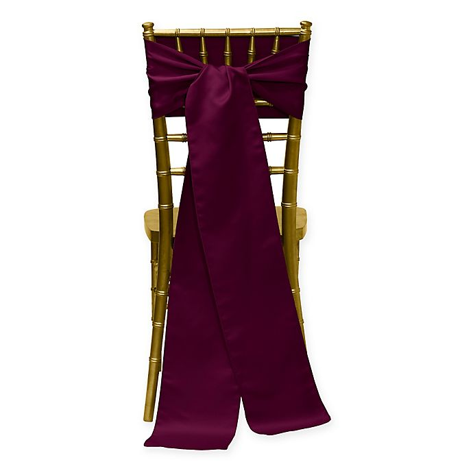 Alternate image 1 for Duchess Chair Ties in Magenta (Set of 4)