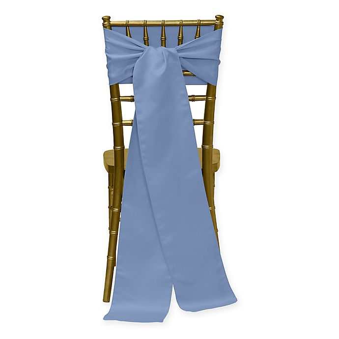 Alternate image 1 for Duchess Chair Ties in Periwinkle (Set of 4)