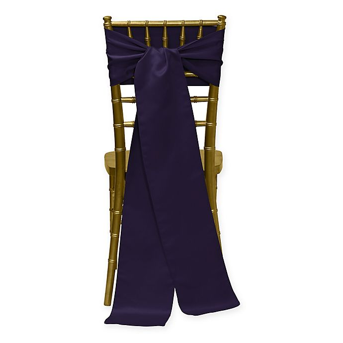 Alternate image 1 for Duchess Chair Ties in Plum (Set of 4)