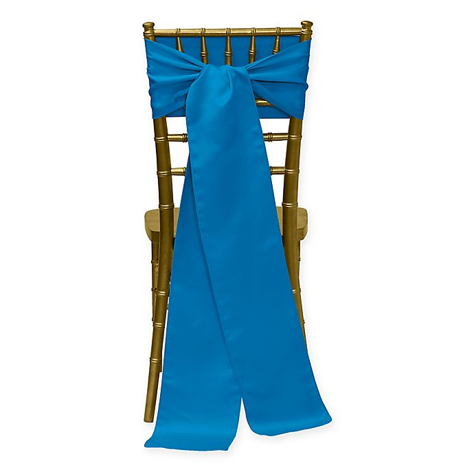 Alternate image 1 for Duchess Chair Ties in Cobalt (Set of 4)