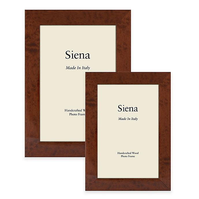 Alternate image 1 for Siena Burl Wood Photo Frame in Brown