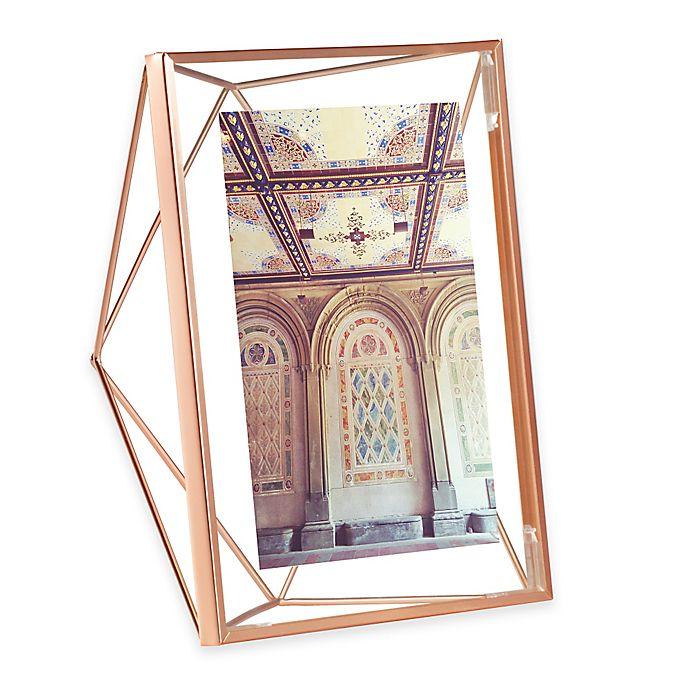 Alternate image 1 for Umbra® Prisma 5-Inch x 7-Inch Photo Frame in Copper