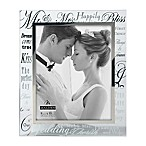 Malden® 8-Inch x 10-Inch Mirrored  Mr. & Mrs.  Photo Frame