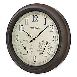 Bulova Illuminated Indoor/Outdoor Wall Clock in Oil Rubbed Bronze