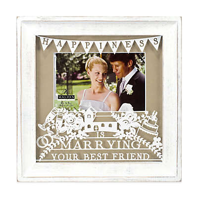 """Malden® 4-Inch x 6-Inch """"Marrying Your Best Friend"""" Photo Frame in White"""