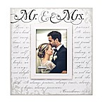 Malden® 5-Inch x 7-Inch  Mr. & Mrs.  Photo Frame in White