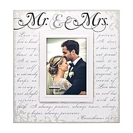 "Malden® 5-Inch x 7-Inch ""Mr. & Mrs."" Photo Frame in White"
