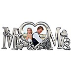 Malden® 2-Inch x 3-Inch  Mr. & Mrs.  Sculpted Metal Photo Frame in Silver
