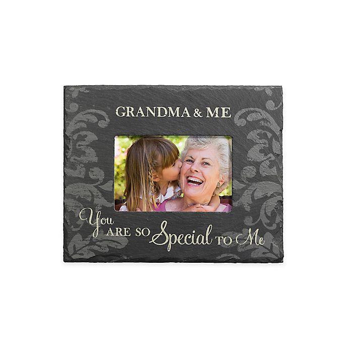 Grassland Roads 4 Inch X 6 Inch Grandma Me Slate Frame In Black