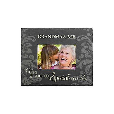"Grassland Roads 4-Inch x 6-Inch ""Grandma & Me"" Slate Frame in Black"