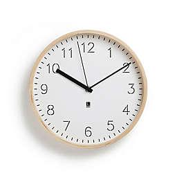 Umbra® Rimwood Wall Clock in White/Natural
