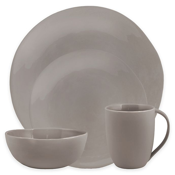Alternate image 1 for Artisanal Kitchen Supply® Curve Dinnerware Collection in Grey