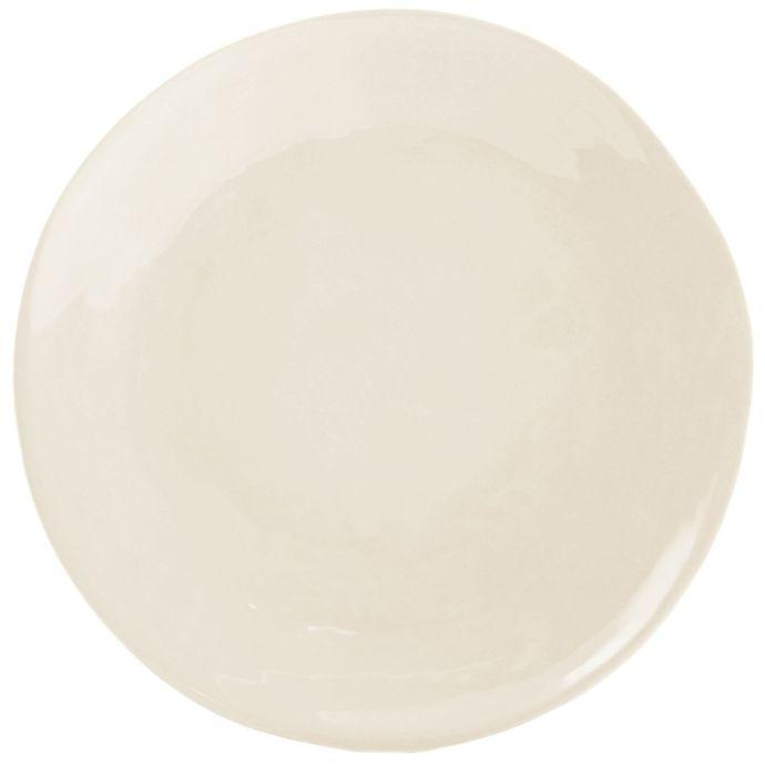 Alternate image 1 for Artisanal Kitchen Supply® Curve Round Serving Platter in Linen