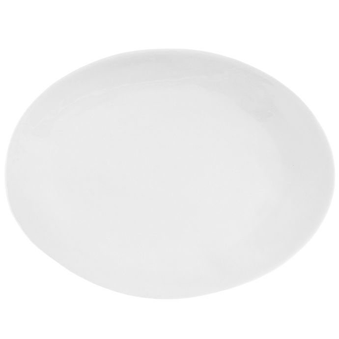 Alternate image 1 for Artisanal Kitchen Supply® Curve Oval Serving Platter in White