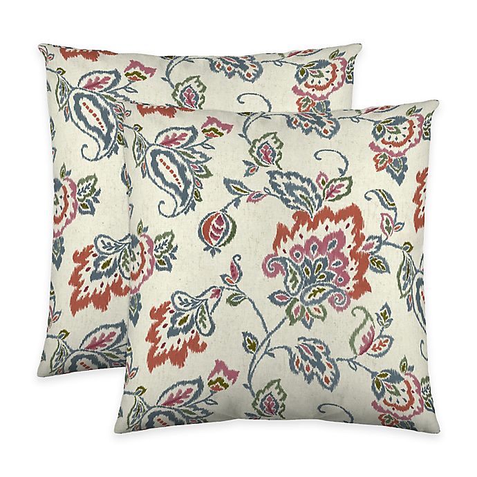 Alternate image 1 for Colorfly™ Dharma Throw Pillow in Tangerine (Set of 2)