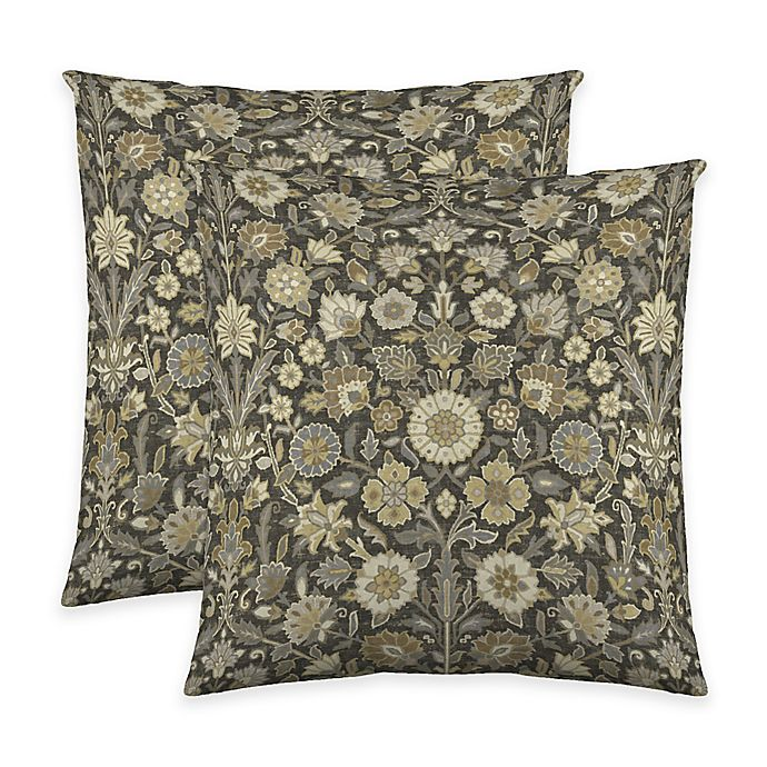 Alternate image 1 for Colorfly™ Indira Throw Pillow in Slate (Set of 2)
