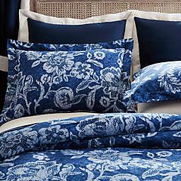 Inspired by Kravet Aida European Pillow Sham in Indigo