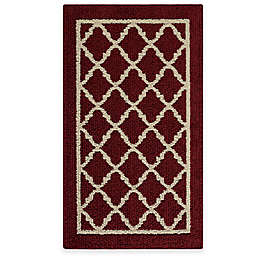 Fretwork Border 1-Foot 8-Inch x 2-Foot 10-Inch Accent Rug