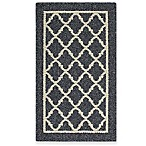 Fretwork Border 1-Foot 8-Inch x 2-Foot 10-Inch Accent Rug in Heather
