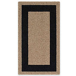 Classic Border 1-Foot 8-Inch x 2-Foot 10-Inch Accent Rug in Camel/Black