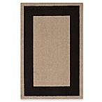 Classic Border 2-Foot 6-Inch x 3-Foot 10-Inch Accent Rug in Camel/Black