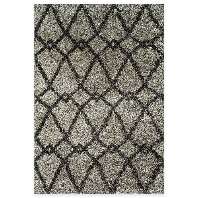 Alternate image 1 for Loloi Rugs Cosma Arrow 7-Foot 7-Inch x 10-Foot 5-Inch Shag Rug in Grey/Charcoal
