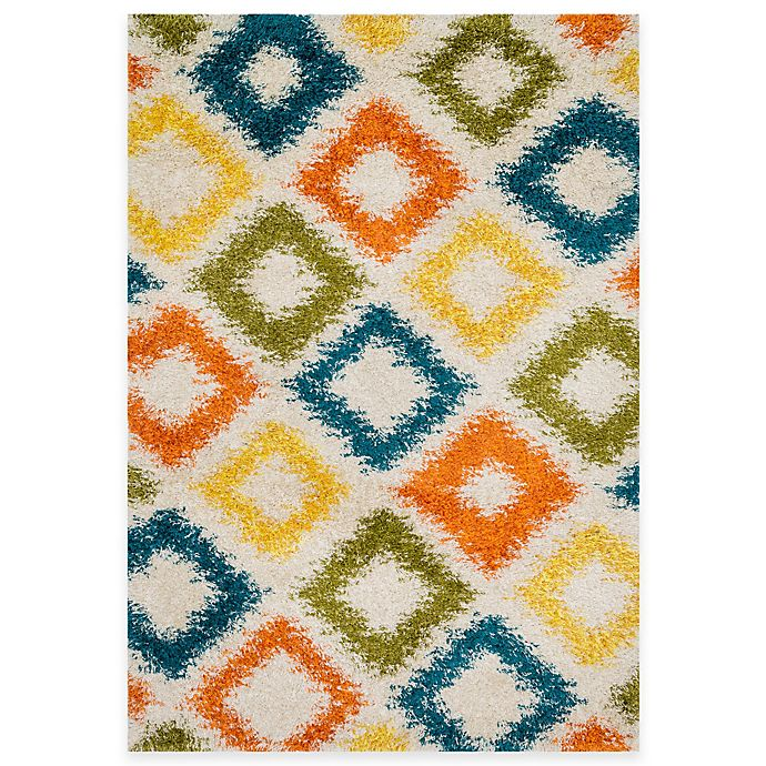 Alternate image 1 for Loloi Rugs Cosma Diamond 7-Foot 7-Inch x 10-Foot 5-Inch Shag Rug in Multicolor