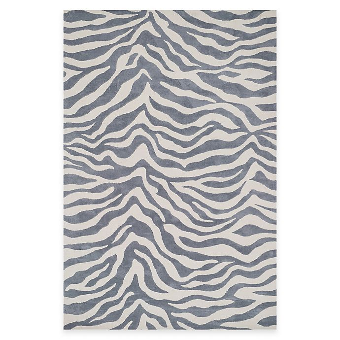 Alternate image 1 for Loloi Rugs Cassidy Zebra 3-Foot 6-Inch x 5-Foot 6-Inch Area Rug in Ivory/Grey