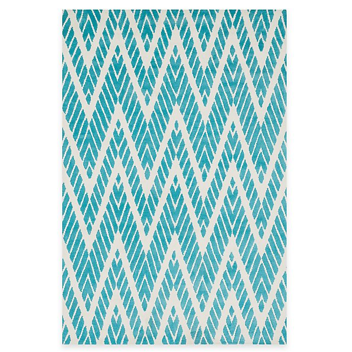 Alternate image 1 for Loloi Rugs Cassidy Chevron 3-Foot 6-Inch x 5-Foot 6-Inch Area Rug in Aqua