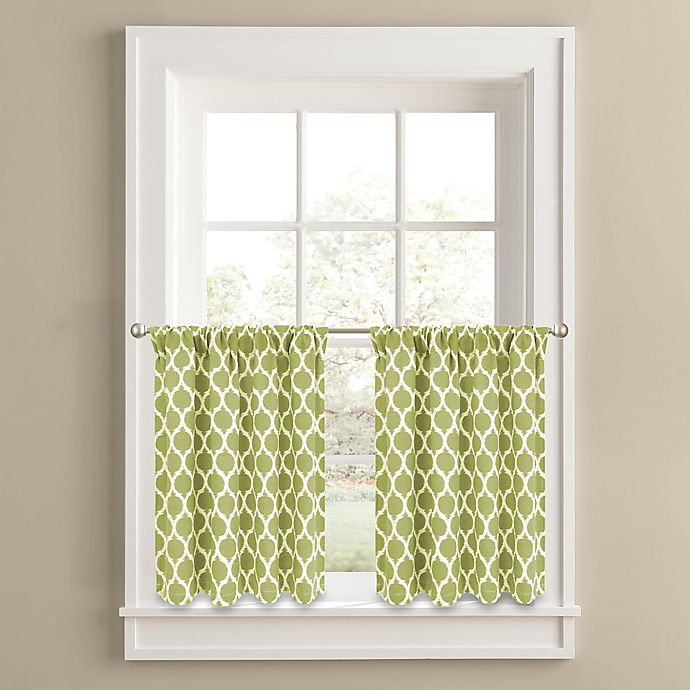 Alternate image 1 for Morocco 24-Inch Window Curtain Tier Panel Pair in Green