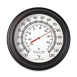 10-Inch Round Indoor/Outdoor Thermometer in Bronze