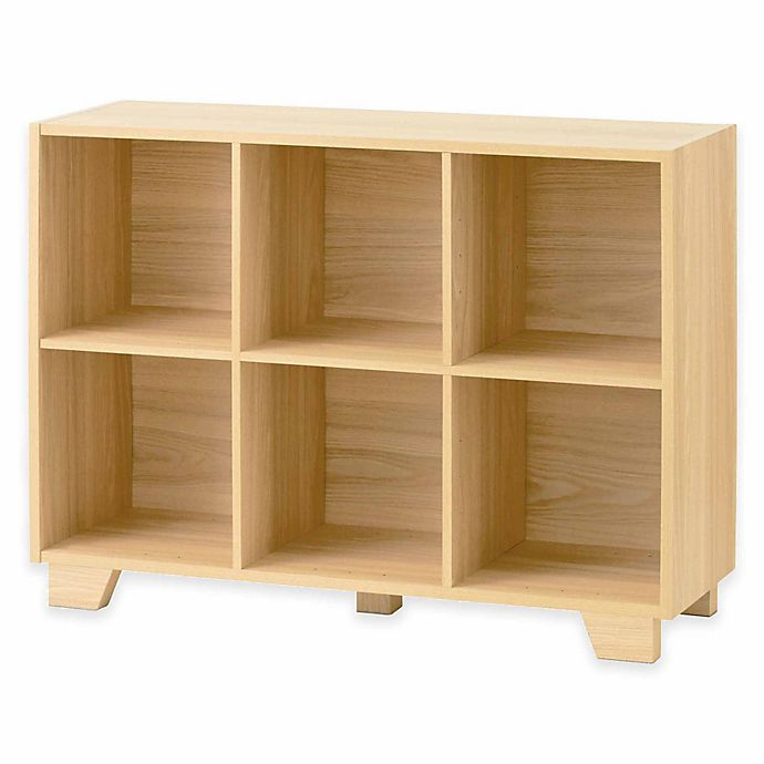 Real Simple Bi Directional 6 Cube Storage Unit In Natural