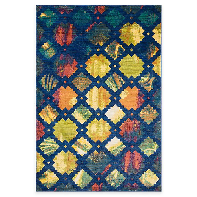 Alternate image 1 for Loloi Rugs Lyon Lyndia 3-Foot 9-Inch x 5-Foot 2-Inch Area Rug in Blue