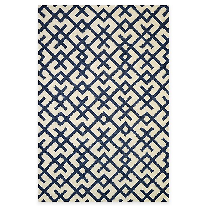 Alternate image 1 for Loloi Rugs Weston Hatch 5-Foot x 7-Foot 6-Inch Area Rug in Ivory/Navy