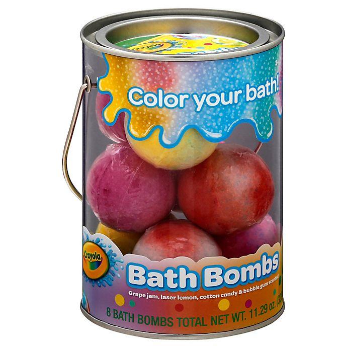 Alternate image 1 for Crayola® 8-Count Bath Bomb Bucket