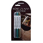 Wine Glass Writer 3-Pack Washable Markers in Silver/Green/Gold
