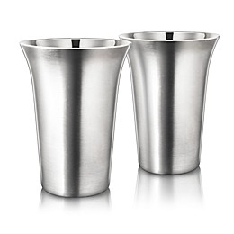 Final Touch® 12 oz. Double-Wall Coffee Cup in Stainless Steel (Set of 2)