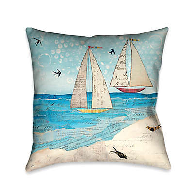 Laural Home® Sailing the Seas Square Throw Pillow