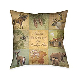 Laural Home® Deer and Antelope Square Throw Pillow