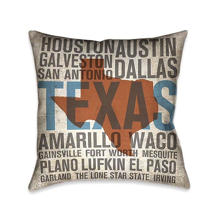 Alternate image 1 for Laural Home® State Texas Square Throw Pillow