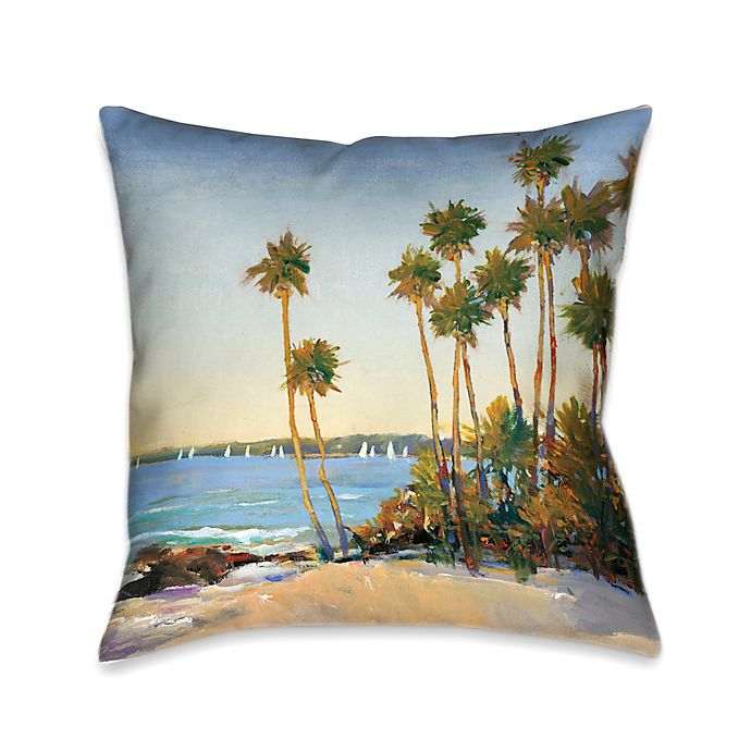Alternate image 1 for Laural Home® Distant Shore Square Throw Pillow