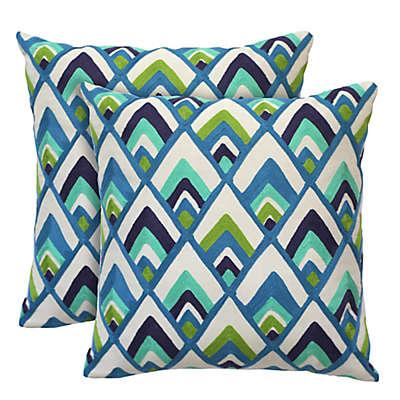 Colorfly™ Sylvester Peacock Throw Pillow (Set of 2)