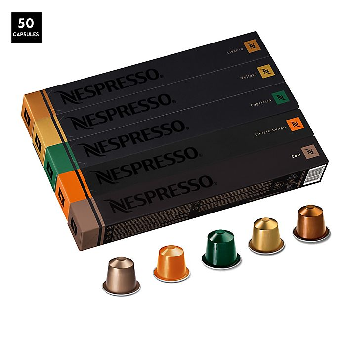 Alternate image 1 for Nespresso® OriginalLine 50-Count Assorted Medium Roast Pack Coffee Capsules