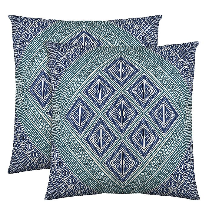Alternate image 1 for Colorfly™ Kensie Throw Pillow in Teal (Set of 2)