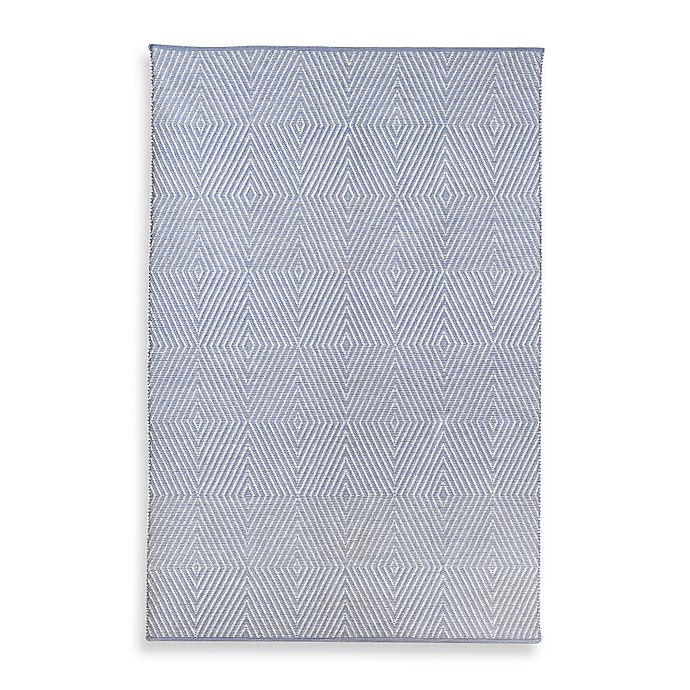 Alternate image 1 for Fab Habitat Zen Cotton 2-Foot x 3-Foot Rug in Eventide/Bright White