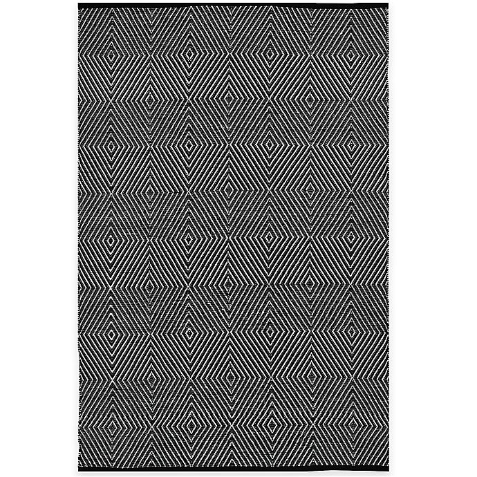 Alternate image 1 for Fab Habitat Zen Cotton 8-Foot x 10-Foot Rug in Black/Bright White