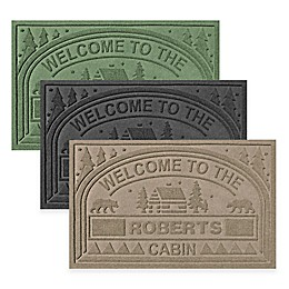 """Weather Guard™ """"Welcome to the Cabin"""" 23-Inch x 36-Inch Door Mat"""