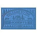 Weather Guard™  Welcome to the Cabin  23-Inch x 36-Inch Door Mat in Medium Blue