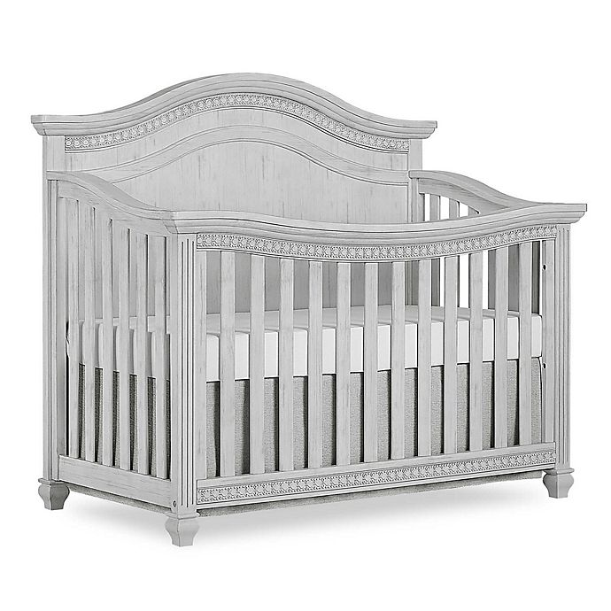 Alternate image 1 for Madison Curved Top 5-in-1 Convertible Crib in Antique Grey